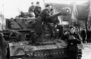 Waffen SS Panzer Mk IV and Crew, France