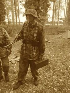Waffen SS Unterscharführer Highdrich Kutsman ready for action...